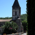 Just your run of the mill church in a French village, but not your run of the mill cyclist.