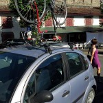 Creative bike rack. Not sure I'd trust it on my Jetta though.