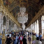 The infamous Hall of Mirrors, where the Treaty of Versailles was signed.
