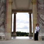 Kristin loved all the marble work, especially these columns on The Grand Trianon.