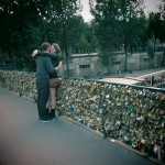 Lovers and locks, near Notre Dame